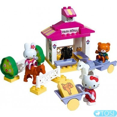 Конструктор Домик с Фигурками в коробке 41 деталь Hello Kitty Big