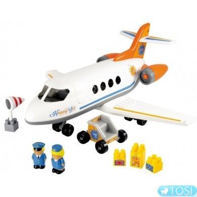 Конструктор Ecoiffier  Реактивный самолет с людьми и грузом,