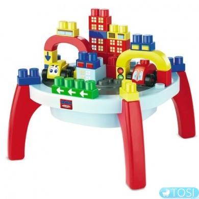 Игровой стол-конструктор Ecoiffier  Город, 37 элем.