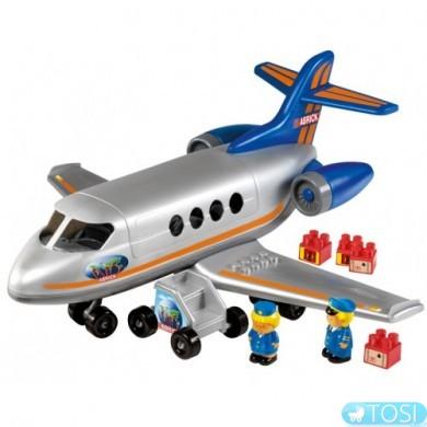 Конструктор Ecoiffier  Самолет с людьми и грузом, 30 элем.