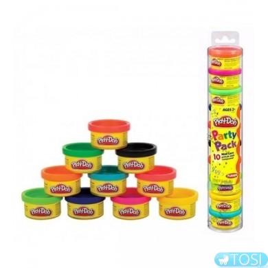 Play-Doh Набор массы для лепки, 10 баноч. по 28г в блист.