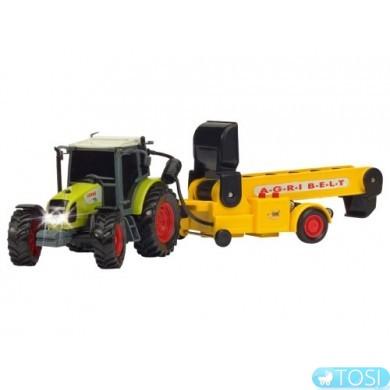 Машинка Трактор с Ленточным Транспортером Farm Dickie