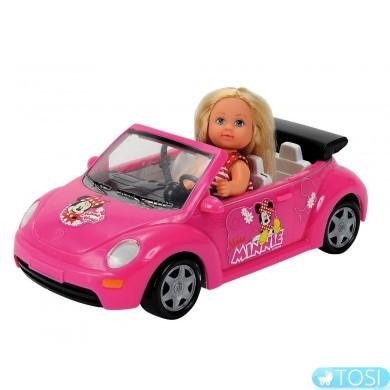 Кукла в кабриолете с багажом Evi Minniе Mouse Simba