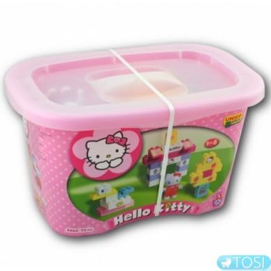 Конструктор в контейнере 73 детали Hello Kitty BIG