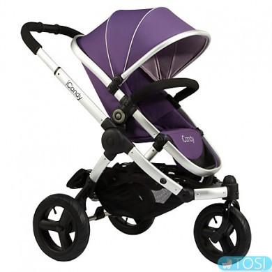 Прогулочная трехколесная коляска iCandy PEACH JOGGER Loganberry + люлька, цвет фіолетовий