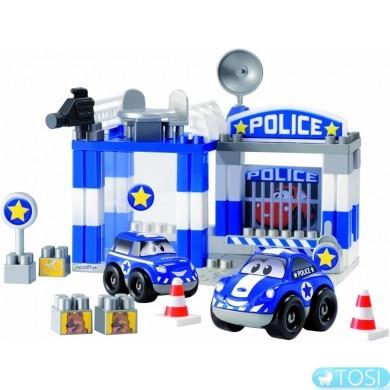 Конструктор Ecoiffier  Скоростное авто. Полицейский участок, 57 элем.