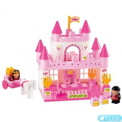 Конструктор Ecoiffier  Замок принцессы с экипажем, 59 элем.