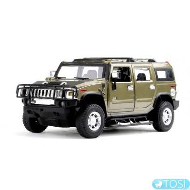 Машинка р/у 1:24 Meizhi лиценз. Hummer H2 металлическая (темно-зеленый)