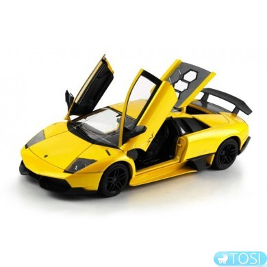 Машинка р/у 1:18 Meizhi лиценз. Lamborghini LP670-4 SV металлическая (желтый)