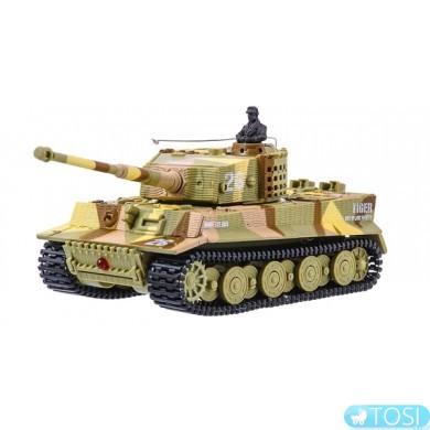 Танк микро р/у 1:72 Tiger со звуком (хаки коричневый) Great Wall Toys