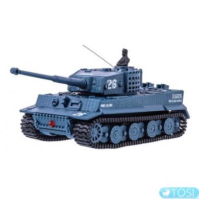 Танк микро р/у 1:72 Tiger со звуком (серый) Great Wall Toys