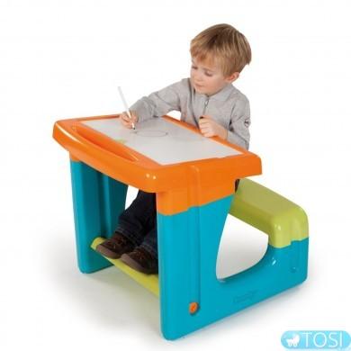 Детская Парта с Двухсторонней Доской для рисования Smoby