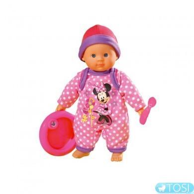 Пупс Simba Минни Маус Нежный младенец с камбинизоном и аксессуарами. для кормления, 20 см