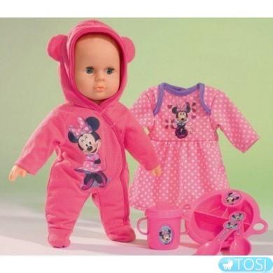 Пупс Simba Минни Маус Дорогой малыш с платьем и аксессуарами. для кормления, 30 см