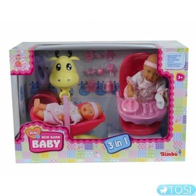 Кукольный набор Simba Пупс Мини NBB 3в1