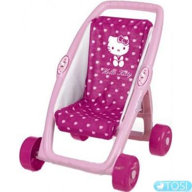 Коляска прогулочная для куклы Hello Kitty Smoby