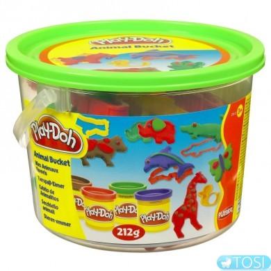 "Play-Doh Ведёрко с форм. и 4 б.теста ""Морские обитатели"", ""Сафари"", ""Пикник"", ""Считалочка"" асс"