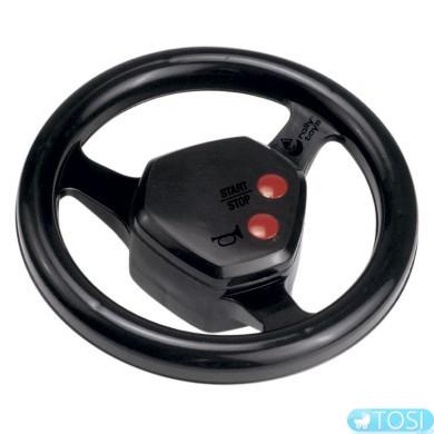 Руль игровой со звуковыми эффектами черный Rolly-Toys