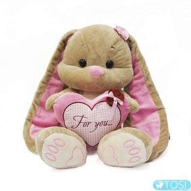 Мягкая игрушка ЗайкаЛинJack& Lin с сердечком,25см 2029001