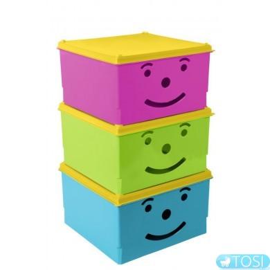 Ящик для игрушек Tega baby Smile