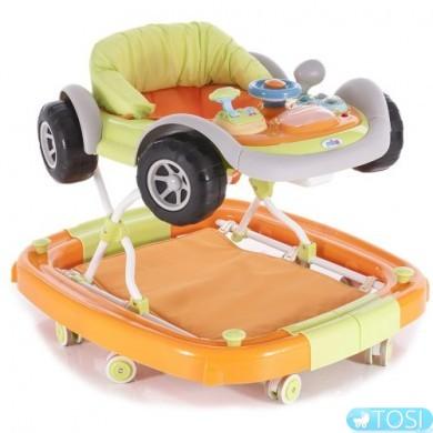 Ходунки Mioo XA 30 Машинка оранжевые
