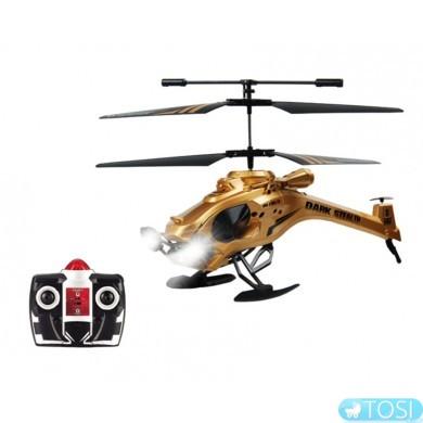 """Вертолет на ИК управлении Auldey """"DARK STEALTH"""" (золотой, 22 см, 3-канальный, с гироскопом)"""