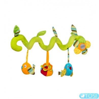 Подвеска-спираль для коляски BabyOno Птички