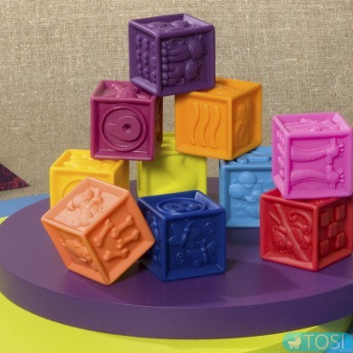 Развивающие силиконовые кубики Battat Посчитай-ка