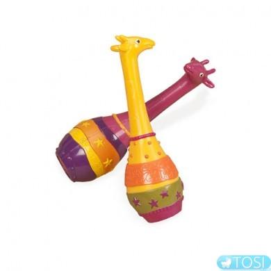 Музыкальная игрушка серии Battat Джунгли  Два жирафа набор маракасов
