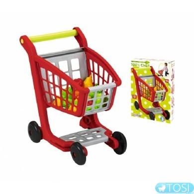 Тележка для супермаркета Ecoiffier с продуктами питания Bubble Cook