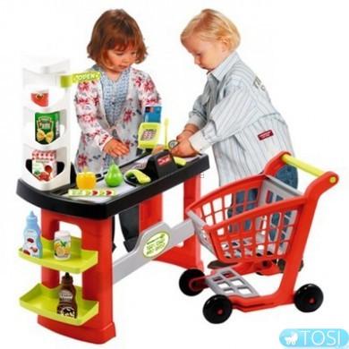 Супермаркет Ecoiffier Pro-Shop с тележкой, 20 аксес