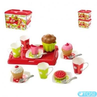"""Игровой набор Ecoiffier Chef-Cook """"Сладкий завтрак с пирожными, 25 аксес"""