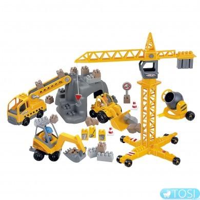 """Конструктор """"Строительство"""" в коробке 86 деталей Ecoiffier"""