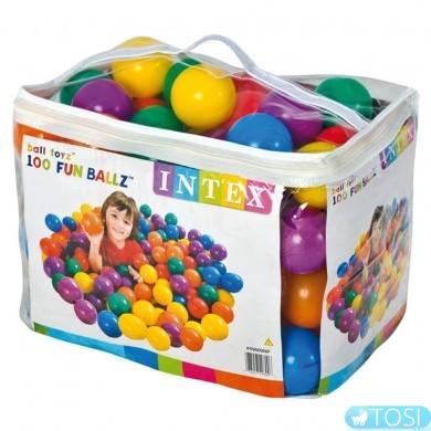 Шарики для сухого бассейна INTEX Fun Ballz 49600 100 шт