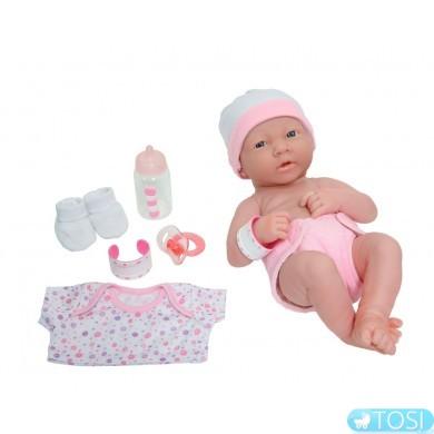 Пупс JC Toys Newborn Весельчак, с аксессуарами, 36 см