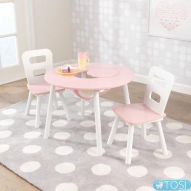 Стол и 2 стульчика KidKraft Round Storage 26165