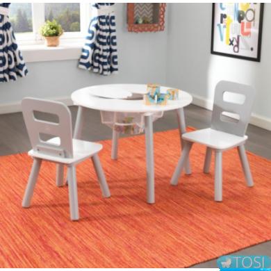Стол и 2 стульчика KidKraft Round Storage 26166