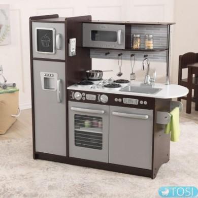 Детская игрушечная кухня Uptown Espresso KidKraft 53260