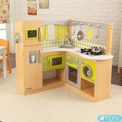 Угловая детская кухня KidKraft Natural Lime Corner 53274