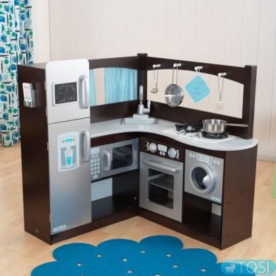 Угловая детская кухня KidKraft Espresso Grand Gourmet
