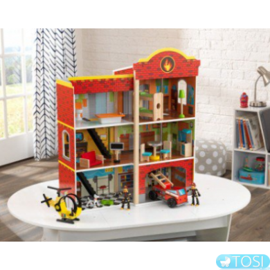 Пожарная станция KidKraft Wooden Fire Station 63459