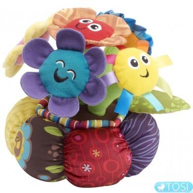 """Развивающая мягкая музыкальная игрушка для малышей """"Цветы в горшке"""" Lamaze"""