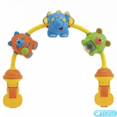 Игрушка на прогулочную коляску Танцующие звери CHICCO
