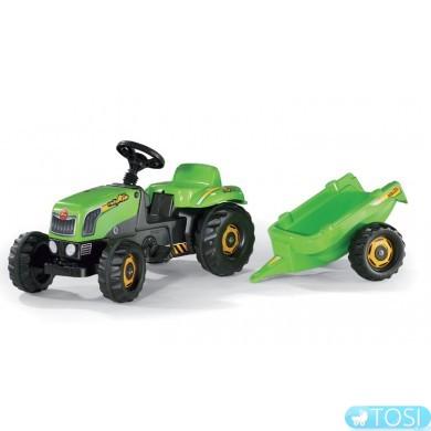 """Трактор """"Педальный с Прицепом"""" Kid Rolly Toys"""