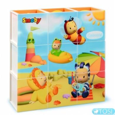 """Игрушка для развития Smoby Cotoons """"Волшебные кубики. Лето"""" в рамке"""