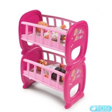 Двухъярусная кровать для кукол Smoby Twin 220329