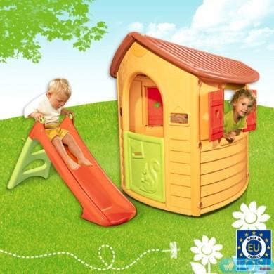 Детский игровой домик с горкой smoby 310151