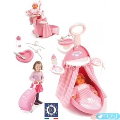 """Игровой набор Smoby """"Раскладной чемодан"""" в стиле Hello Kitty с аксес"""
