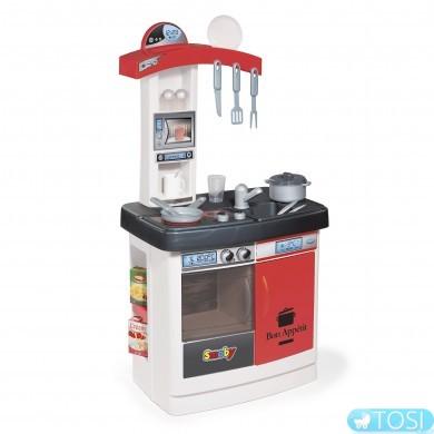 """Кухня Smoby """"Bon Appetit Red"""" с духовкой, холодильником, плитой, аксес."""