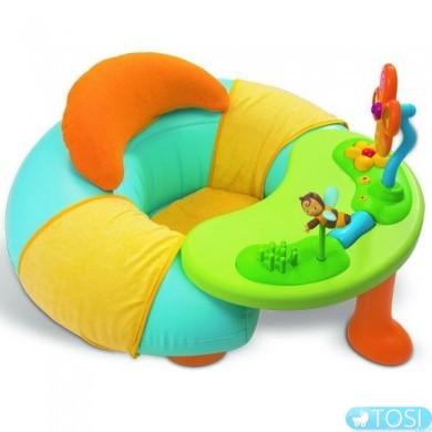 """Надувное кресло + столик интерактивный развивающий комплекс для малышей """"Cottons"""" Smoby"""